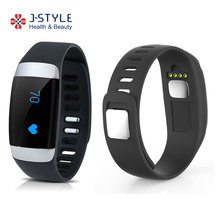 J-Style Hot selling bluetooth smart activity tracker ecg electrodes barcelet with heart rate monitor