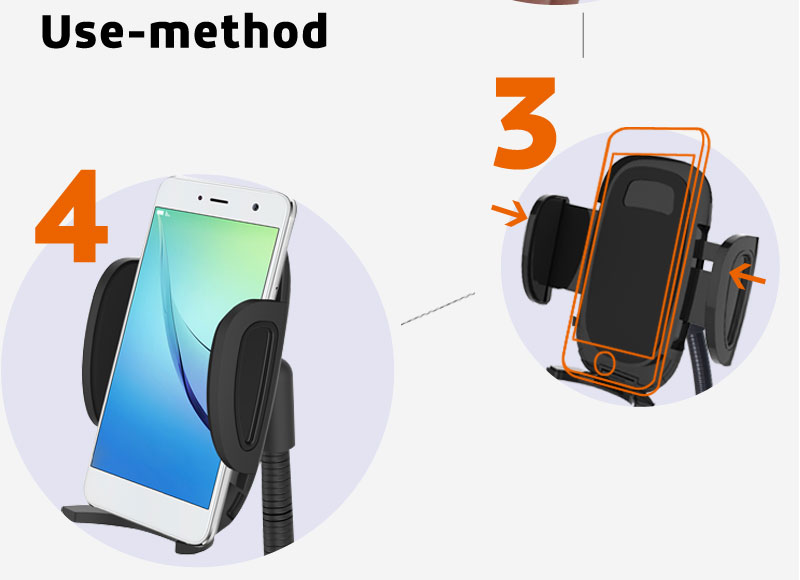 New in-car smartphone charger holder HC05W