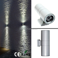 Europe modern UP DOWN Outdoor White Black IP54 LED lamp Waterproof base Round Wall Light