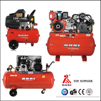Competitive price hot selling mobile belt driven air compressor
