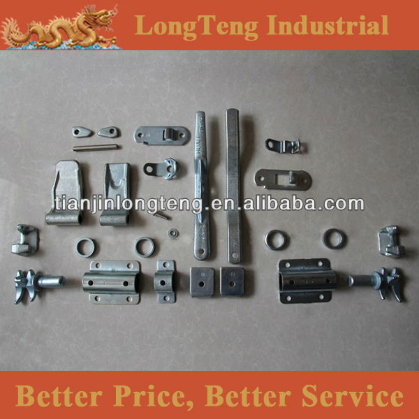 Full range of shipping container door parts