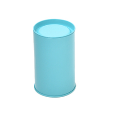 Wholesale high quality 7.5(diameter)x12(height)cm tall tin cans tin container suppliers tin cylinder container with free sample