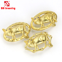 OEM&ODM Acceptable Pig Pattern Casted 316L Stainless Steel gold metal Side Release Buckles
