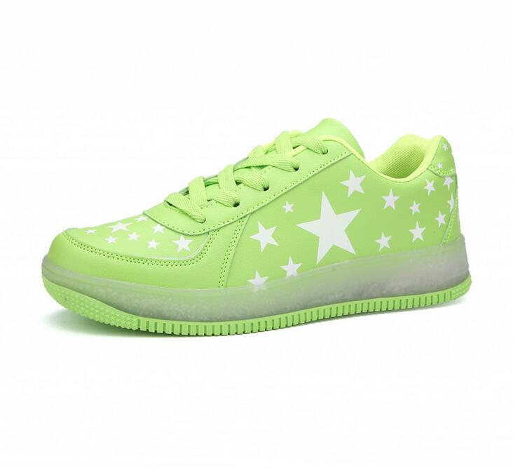 Super star women Led light sport shoes glow sneakers running shoes