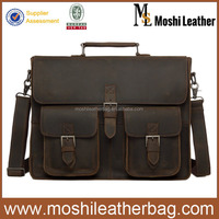 669 Moshi Unique Design Vintage Antique Leather Briefcase for Men