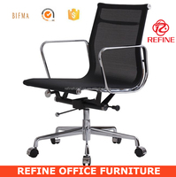 black swivel executive low back earmes aluminum management chair mesh RF-S088