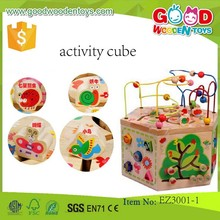 hot selling activity cube toys OEM educational wooden toys beads for children EZ3001-1