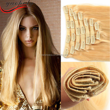 Aliexpress clip in hair extension 100% virgin brazilian human hair unprocessed wholesale hair