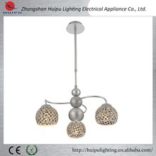 Hot new products for 2015 mosaic glass silver pendant light