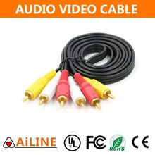 AiLINE High Quality 3 RCA to 3 RCA AV Audio Cable