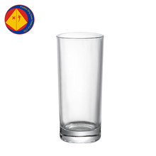 Good quality clear tall and thin drinking milk tea fruit juice glass cup