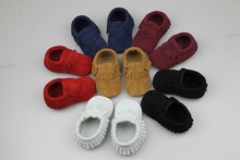 Girls And Boys Shoes Cow Suede Leather Shoes For 1 Year Old