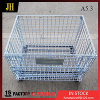 High Quality Cheap Custom Storage Industrial Rectangular Steel Wire Mesh Cages