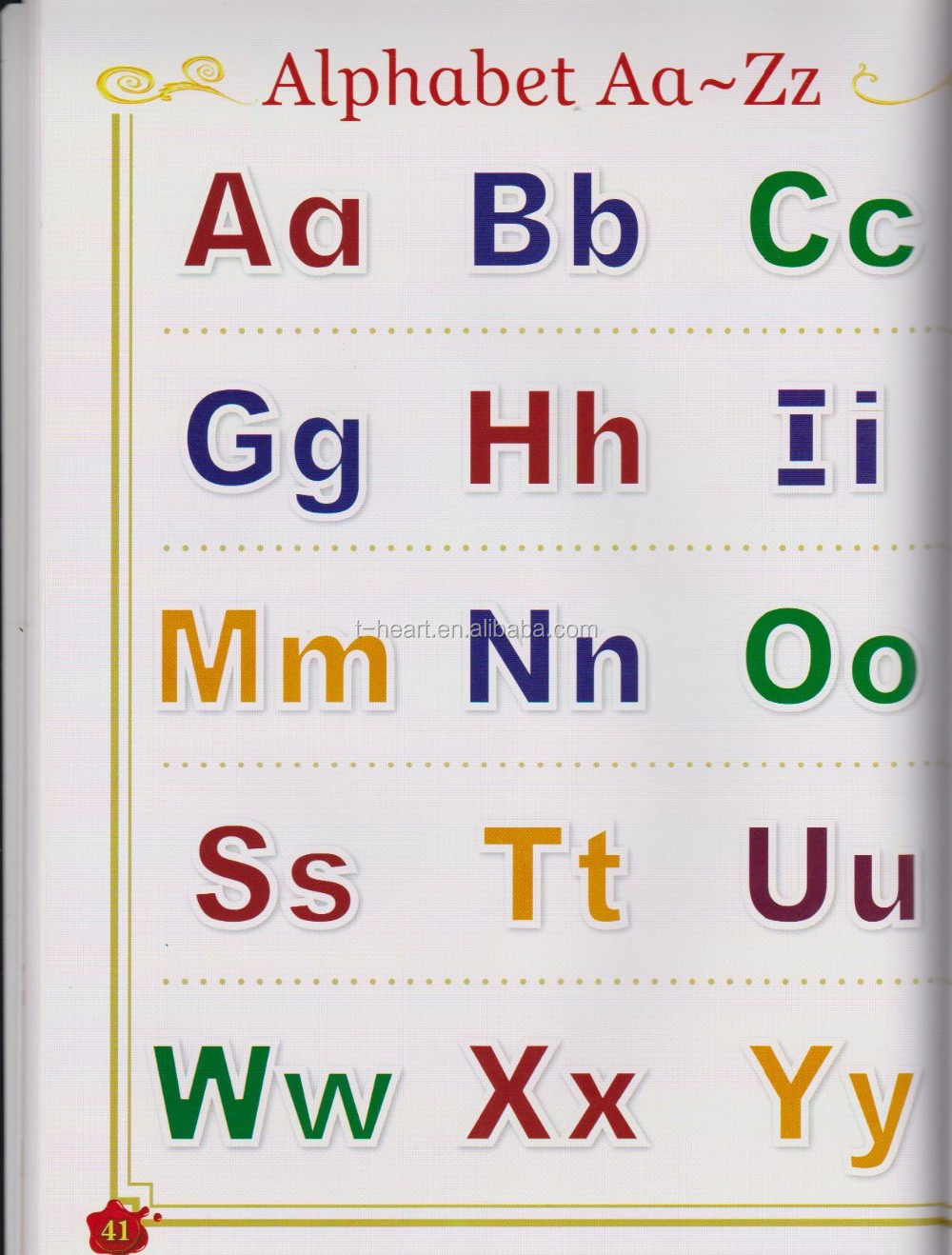 Wonderful English book for children learning ABC