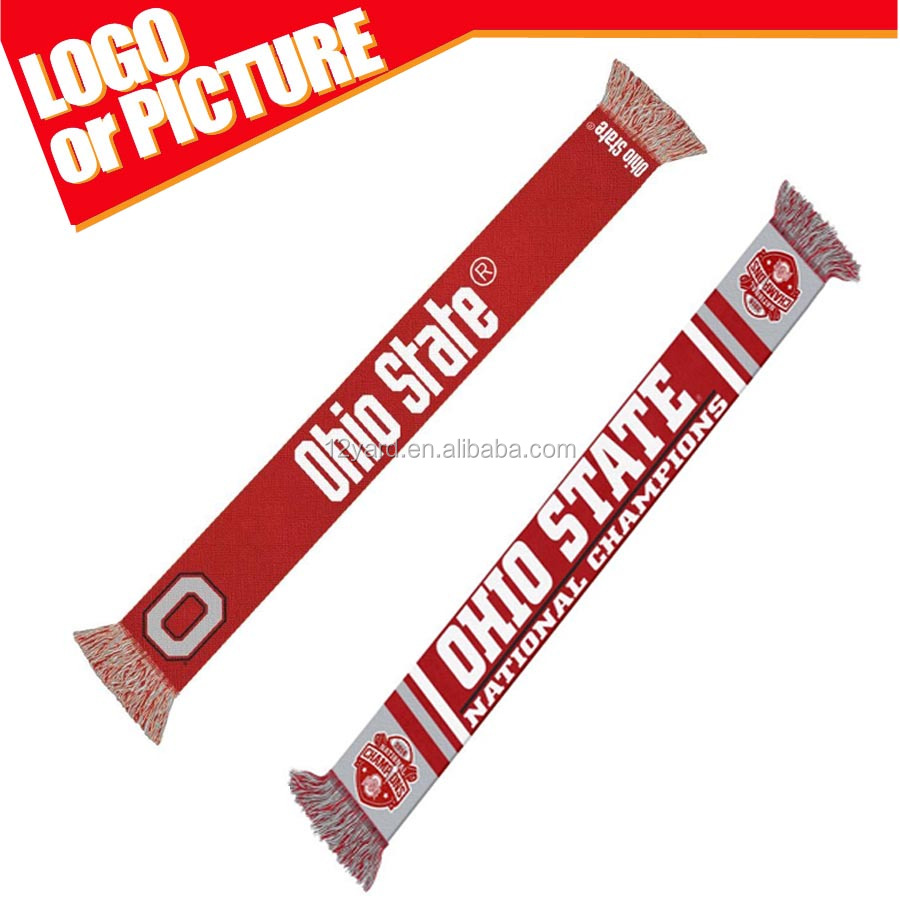 Ohio State College Football Playoff National Champions tube Knitted Scarf-redf