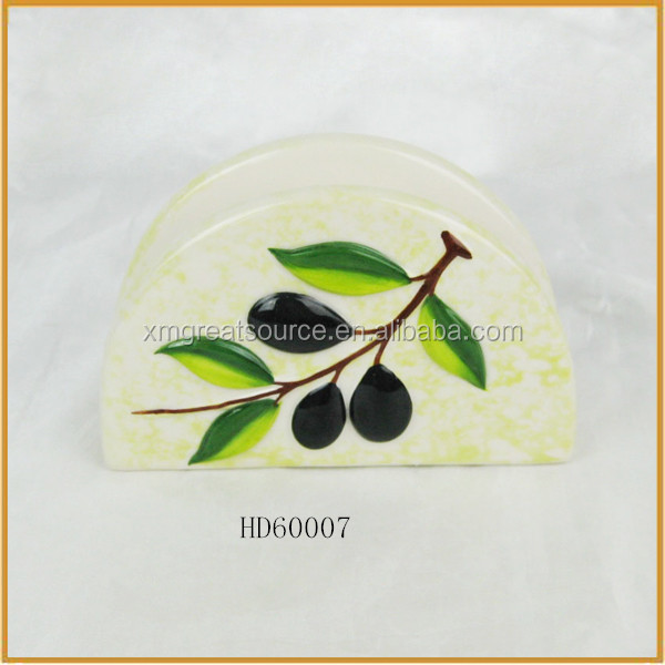 ceramic olive paper napkin holders for sale