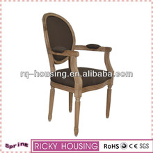 Dining room chair covers with arms/Solid wood carved wooden dining chair/Wooden armrest dining chair