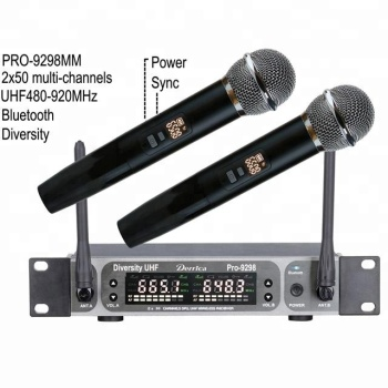 Diversity UHF wireless microphone PRO-9298MM with bluetooth