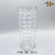 square shaped cheap crystal floor vase