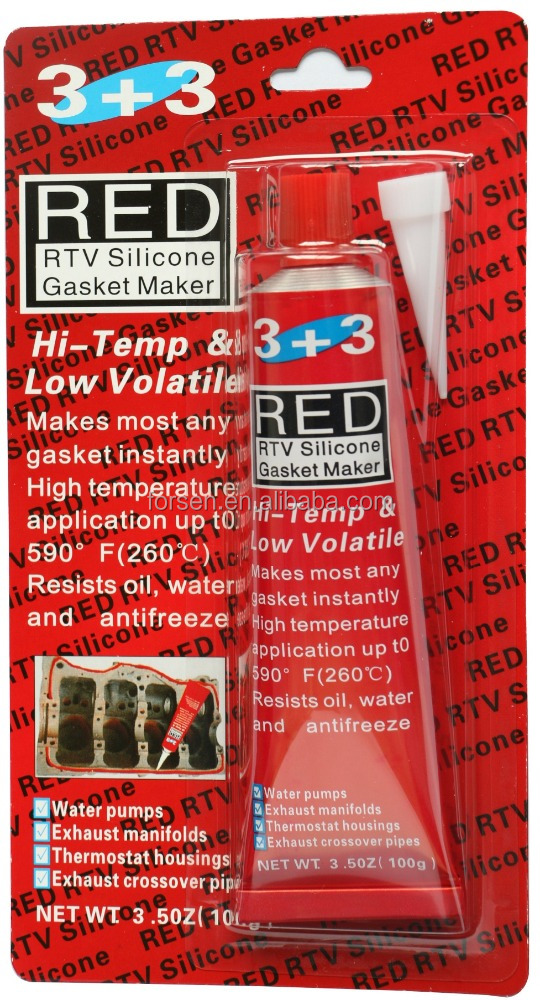 General Purpose Liquid Gasket Maker RTV Red Silicone Gasket Maker