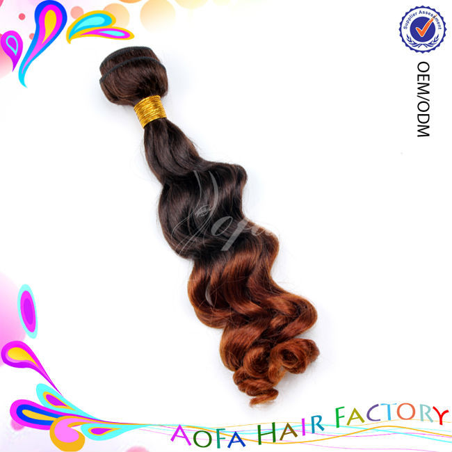 High quality wholesale price brazilian body wave two tone color remy human hair