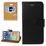 Crazy Horse Texture Horizontal Flip Leather Case with Card Slots & Holder & Wallet for iPhone 6(Black)