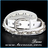 Punky best price wholesale snap white leather bracelets fashion jewelry findings