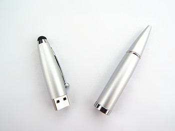 hot sell beautiful metal promotion pen usb flash disk 8gb with any capacity