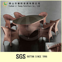 Dinning room design furniture PE rattan table and chair malaysia furniture factory