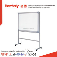 Howhaty free rotated double sides mobile stand whiteboard