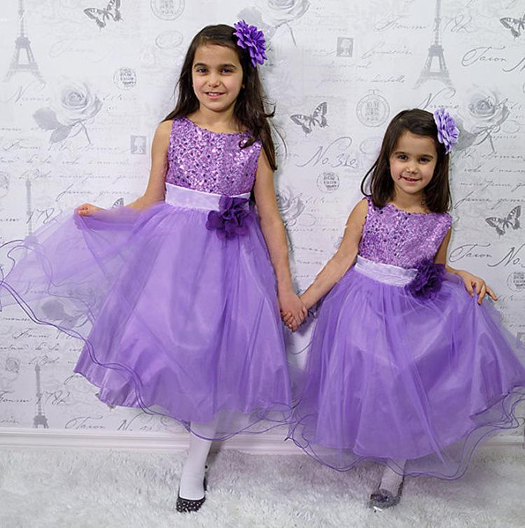 2016 Super Hot Wholesale Flower Girl Dress Girl Wedding Dress Party ...