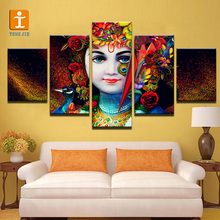 Lotus flower canvas art printing abstract modern painting
