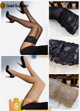 walson women lingerie sexy black lace top HOLD UP SILICONE thigh high tight stocking