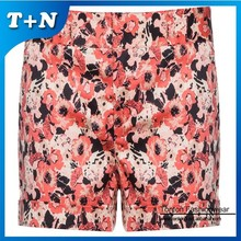 fashion style full printing sublimation women sexy beach shorts