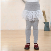 Good quality winter long trouser kids leggings with skirt girls pantskirts