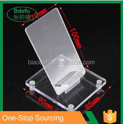 Acrylic cell phone accessory rack display stand