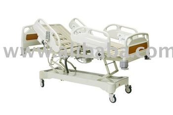 PATIENT BED WITH FOUR ELECTRICAL MOTORS, PLASTIC HEAD-FOOT BOARDS AND SIDERAILS