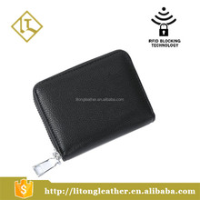 RFID Blocking Leather Credit Card Coin Purse Wallet for Women Mini Wallet