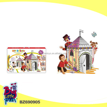Creative DIY drawing toys puzzle house design 3D DIY doodle for kids