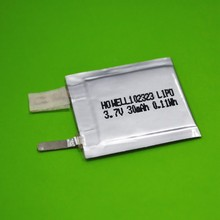 Small 102323 ultra thin Lipo battery 3.7V 30mAh for digital products
