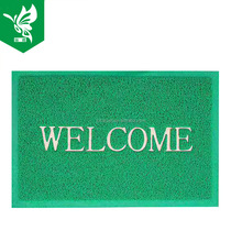 Pvc coil plain embossed door mat with welcome logo