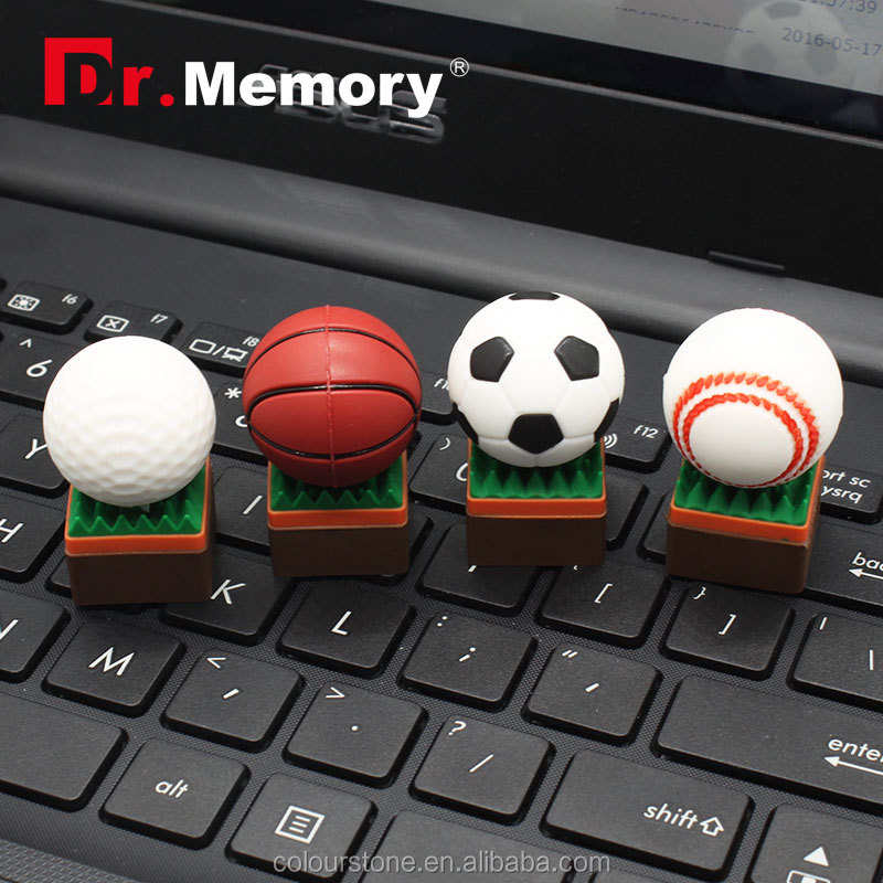 Dr.memory promotinal soccor basketball baseball golf ball shape usb flash drive 2.0 2GB 4GB 8GB 16GB
