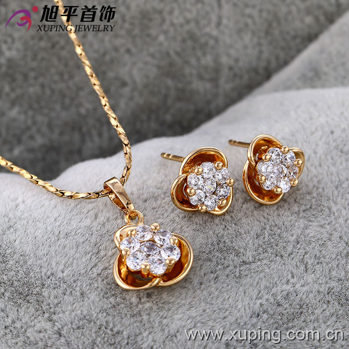 62681 xuping fake jewelry gold wholesale fashion jewelry for Cheap fake jewelry online