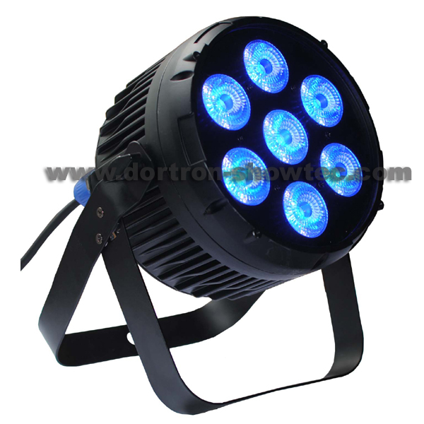 dmx led par 7 rgbwauv 6in1