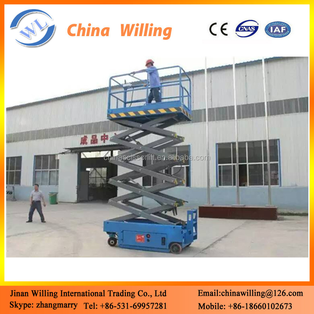 hydraulic electric self propelled scissor lift ladder table