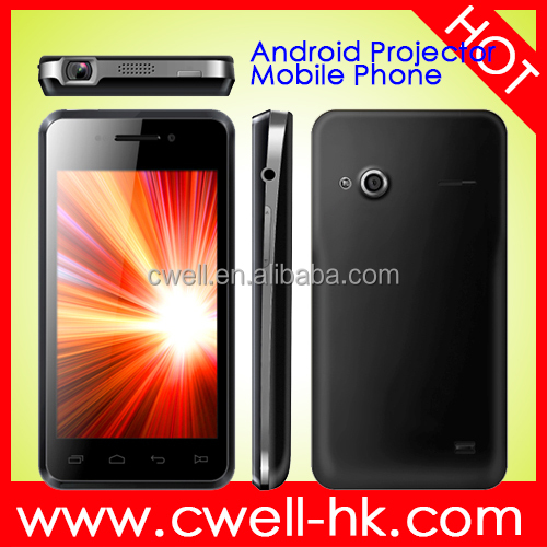 4.0 Inch Touch Screen Dual SIM card Android 4.1 WIFI GPS mobile phone with built in projector PRO E1