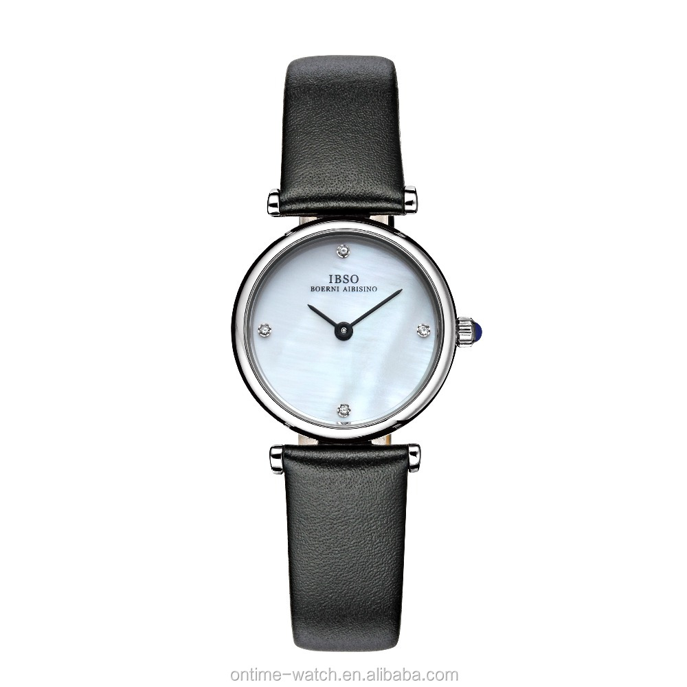 IBSO quartz ladies watches MOP dial watches japan movt jewelry watches