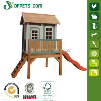 Kids Children Backyard Timber Wooden Outdoor Cubby Play House DFP022M