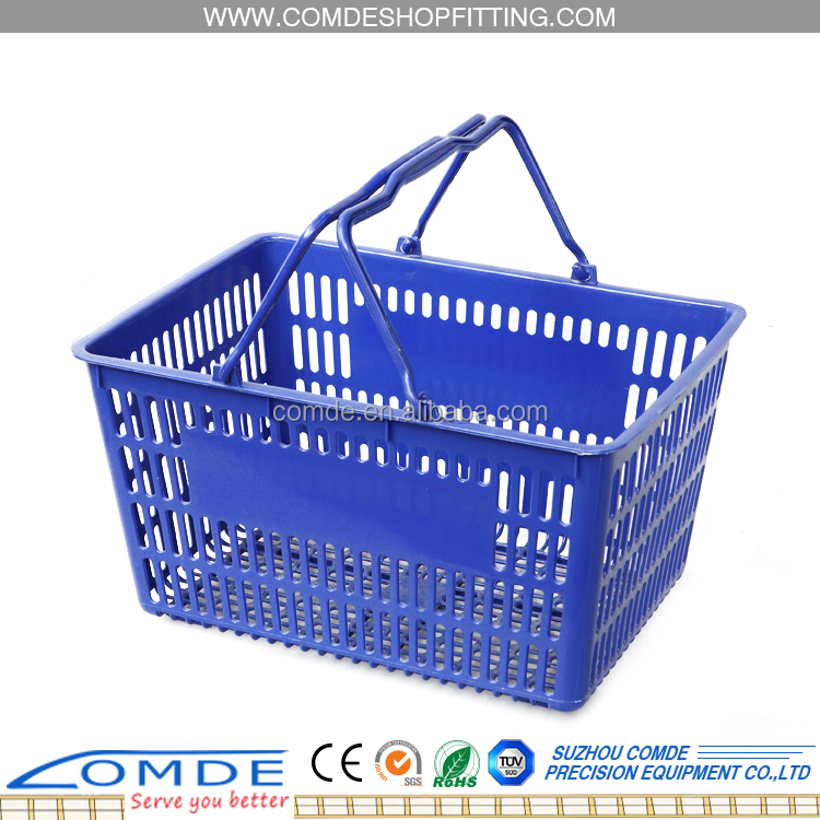 Best choice collapsible plastic shopping basket with factory price