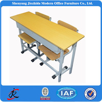 kids primary school high school furniture metal wooden double school tables and chairs height adjustable student desk and chair